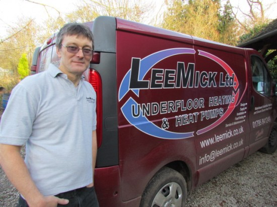 Mick next to his van