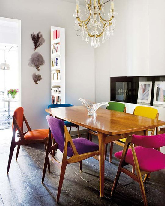 Mixing modern and vintage styles eclectic decor for Dining room definition