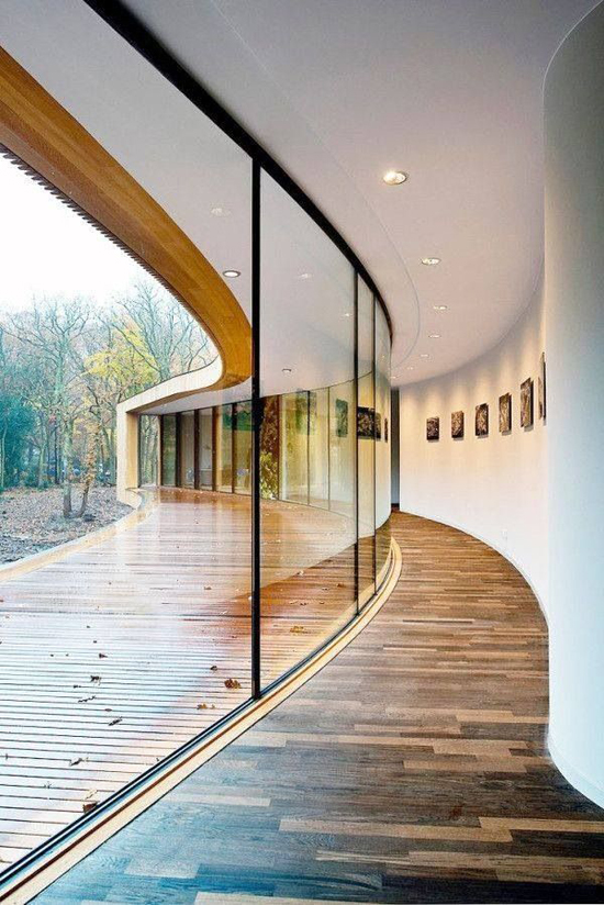 Unusual places to use windows rated people blog for Curved glass wall