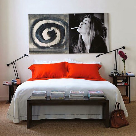 Red pillow covers