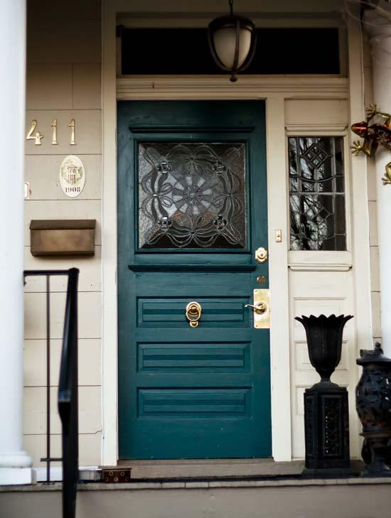 Brown brick house trim colors