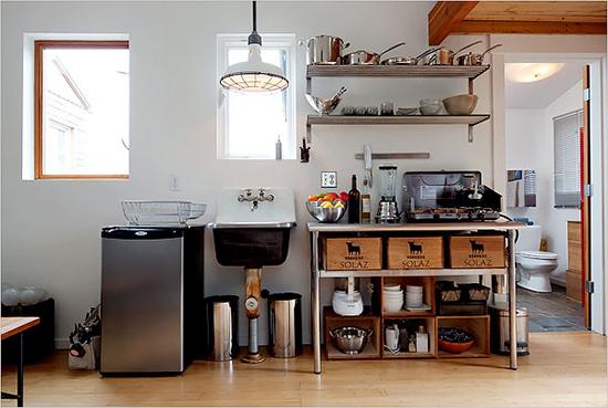 garage conversion into kitchen