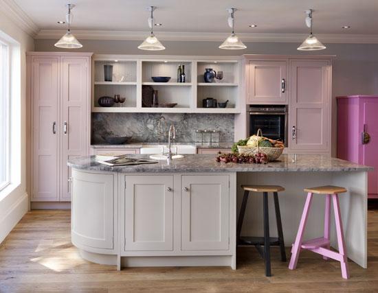Pink Shaker Kitchen