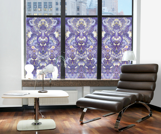 purple window film