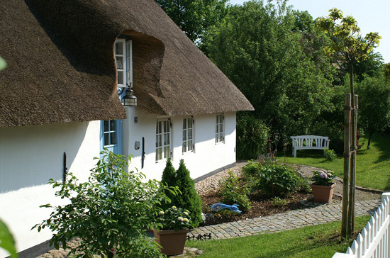 impressive thatched roof