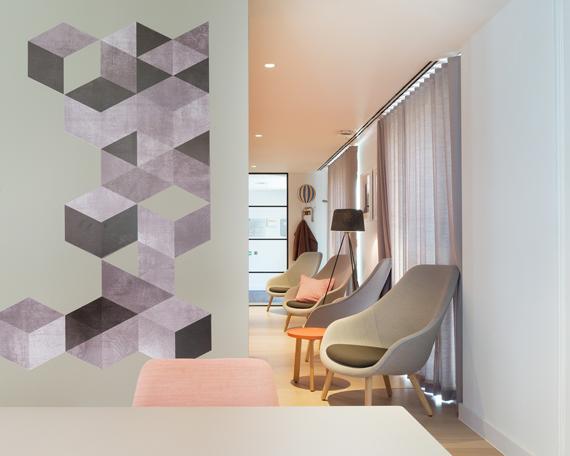 geometric wallpaper design