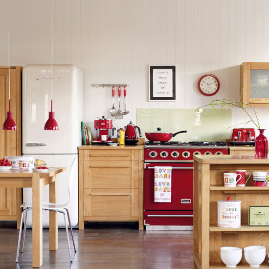 kitchen design with wooden furniture