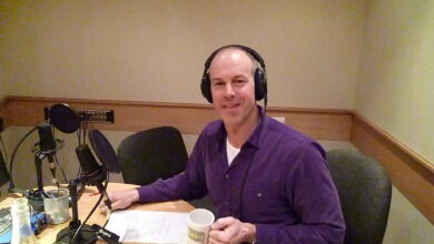 Photo of Behind the scenes: Phil Spencer recording the Rated People voiceover