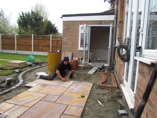 Laying A Patio
