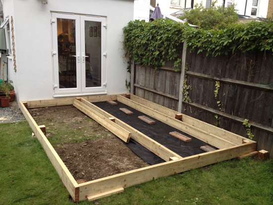 How to build decking rated people blog for Garden decking and grass