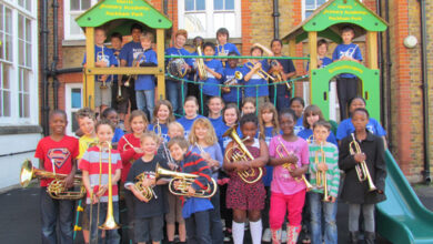 Photo of Rated People sponsors Southwark Children's Brass Band