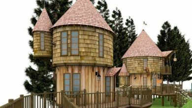 Photo of JK Rowling's Tree House Designs