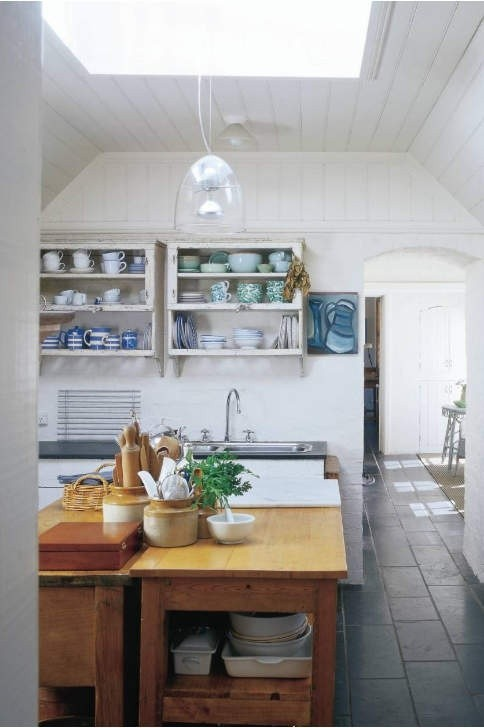 kitchen with sky light