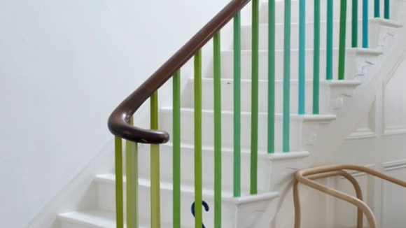 colourful bannister
