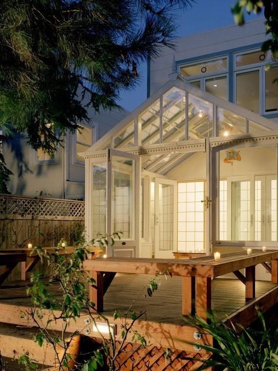 lit conservatory