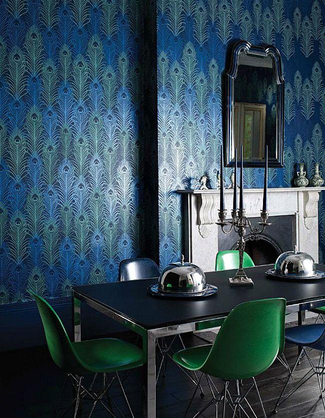 Interior design trend - feathers