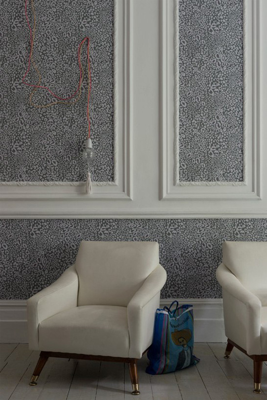 Farrow and Ball's aninal print wallpaper