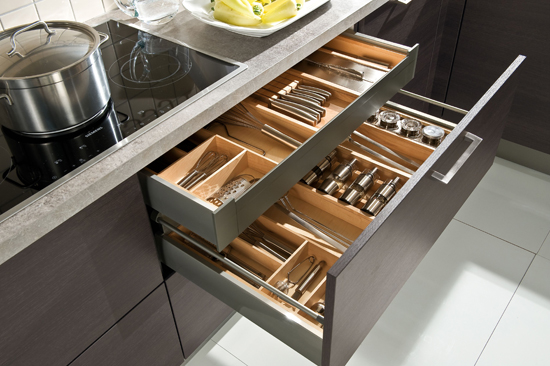 Swap cupboards for drawers