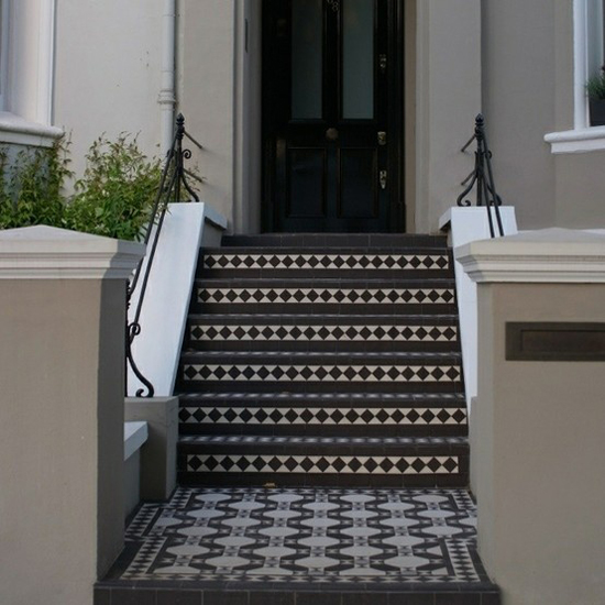 ... Step And All The Way Up To The Front Gate, Forming A Tiled Pathway.  Others Would Have Tiling Heading Inwards, Up The Hallway To The Stairs Or  Kitchen.