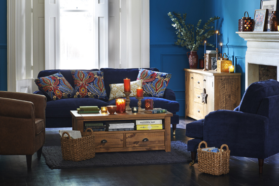 cosy blue home