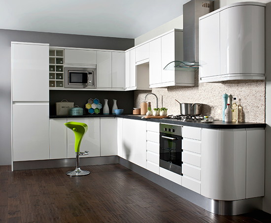 white stylish kitchen