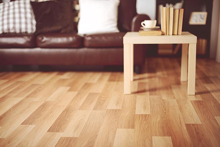 clean wooden floor