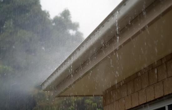 gutters in rain