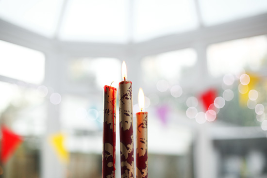 patterned candle