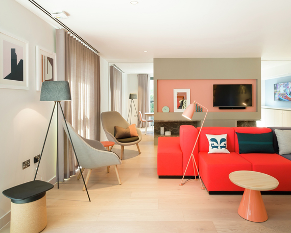 injecting colour with a red sofa