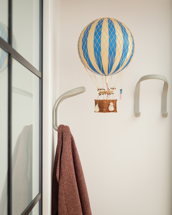 hot air balloon hallway decoration