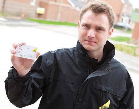 Tradesperson ID card