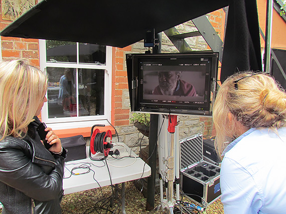 Watching the filming
