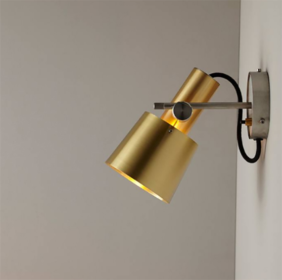 satin brass light