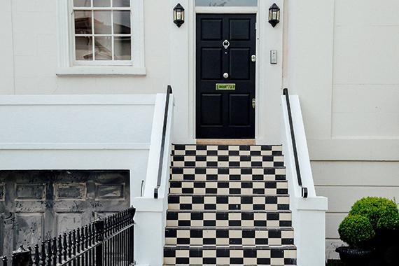 black-front-door