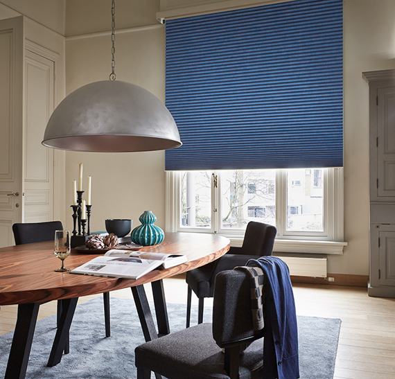 blue blinds from Duette