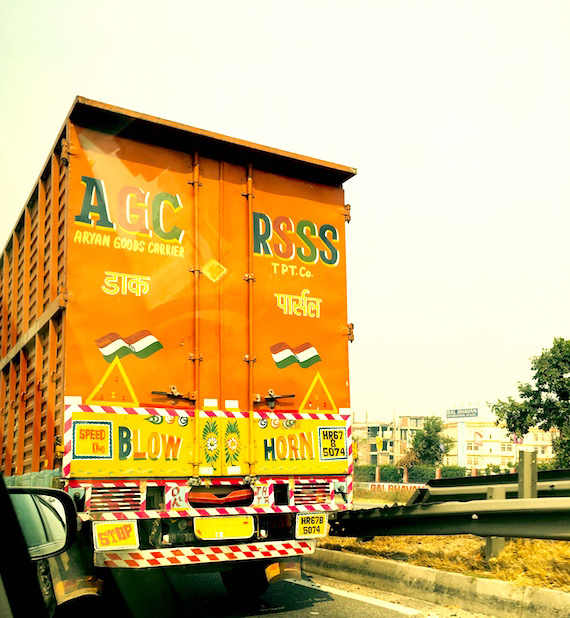 van slogan in India