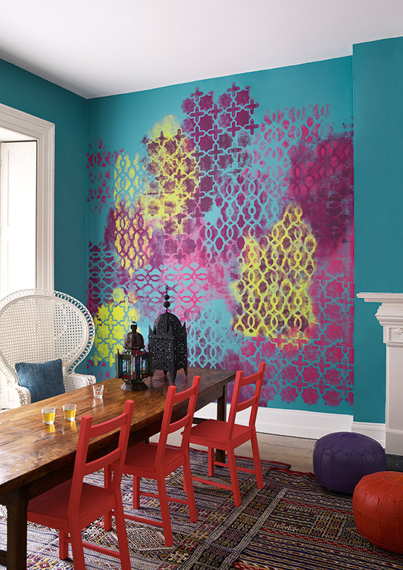 Breaking Decorating Rules With Wallpaper And Paint Effects