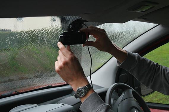 dash camera in vehicle