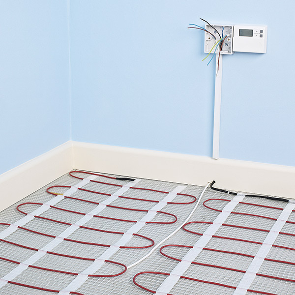 Electric underfloor heating installation - Rated People on basement heating, wall heating, solar combisystem, radiator heating, constant air volume, ceiling heating, home heating, storage heater, thermal mass, boiler heating, coefficient of performance, infloor heating, operative temperature, fan heater, gas heating, variable air volume, solar water heating, thermal comfort, water heating, solar chimney, oil heating,
