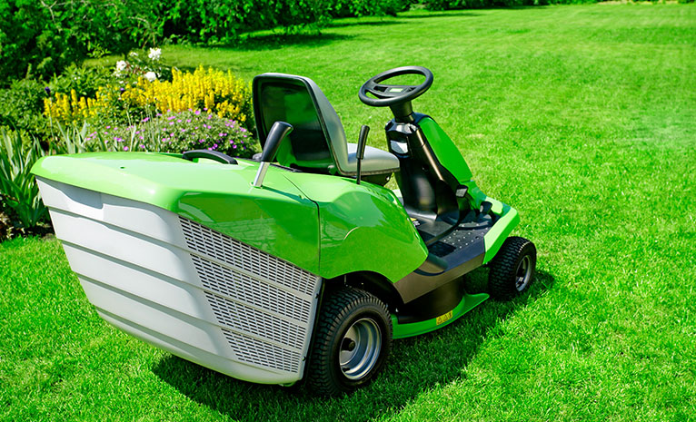 green ride-on mower
