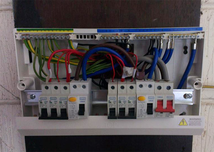 main switch consumer unit installation testing