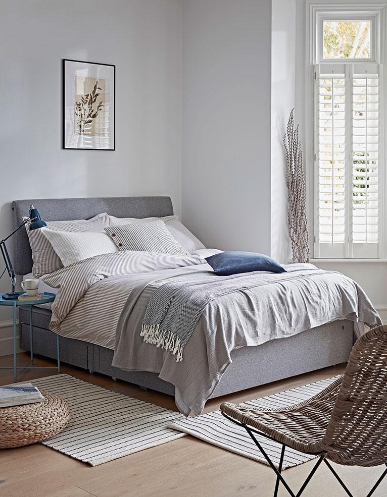 cosy grey bedroom