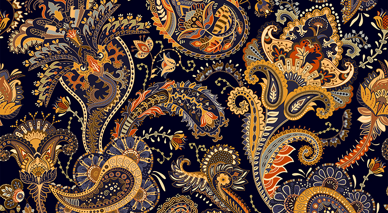 Paisley wallpaper design