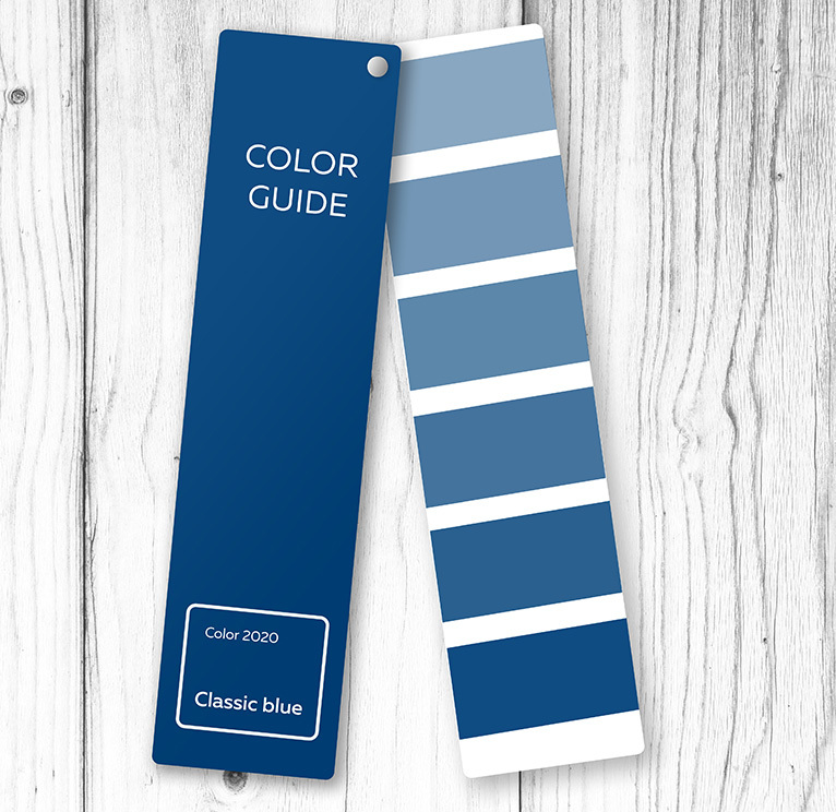 Blue colour tester strip