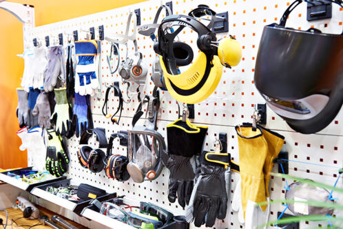 Tools on wall in tool shop