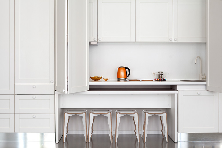 Neat modernistic kitchen
