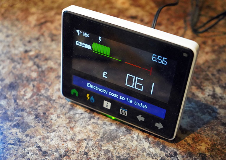 Meter showing money spent on energy
