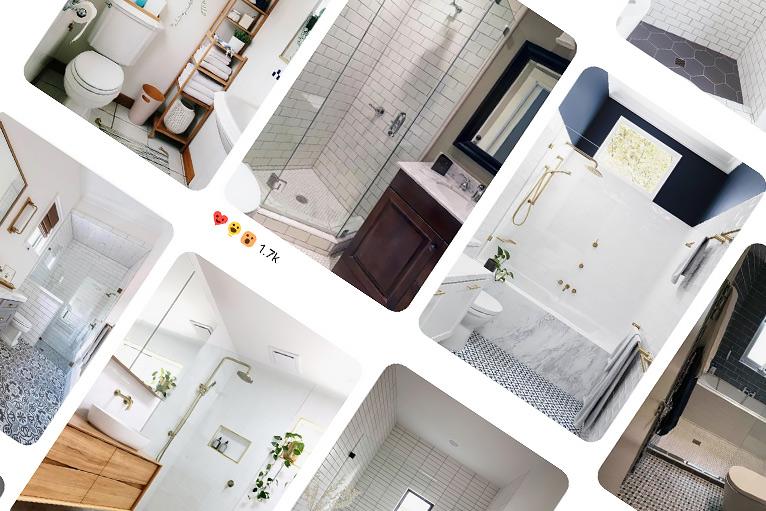 Social media: Beautiful bathroom renovations shown on Pinterest