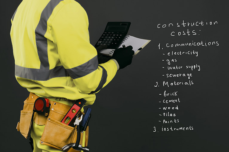 Tradesperson writing in a notepad