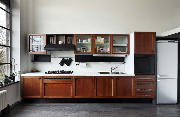 2021 home improvements: White kitchen with wood cabinets